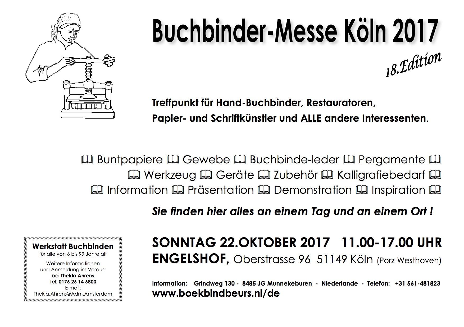 Affiche-Buchbinder-Messe-Köln-2017